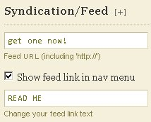 Thesis RSS Feed Feedburner Syndication